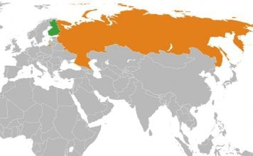 Rosja i Finlandia na mapie
