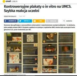UMCS plakaty o in vitro