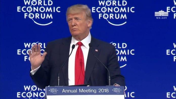 Donald Trump w Davos