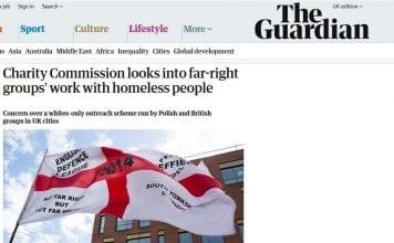 The Guardian - wycinek artykułu obrażającego IPPTV