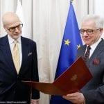 Krzysztof Dębnicki otrzymuje nominację od ministra Jacka Czaputowicza