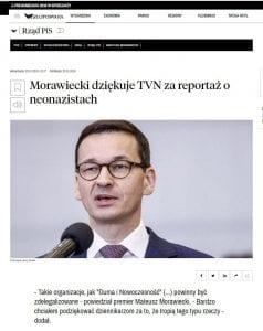 Morawiecki TVN