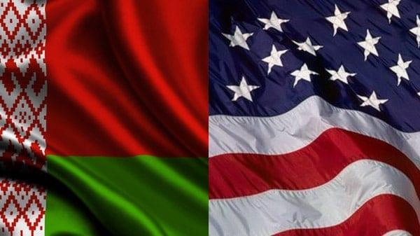 Białoruś i USA - flagi