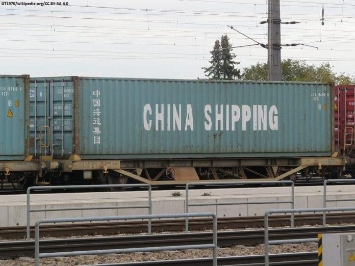 Chiński kontener transportowy