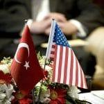 Flagi Turcji i USA