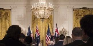 Prezydent USA Donald Trump i premier Australii Malcolm Turnbull
