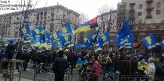 Ukraina - partia Swoboda protestuje