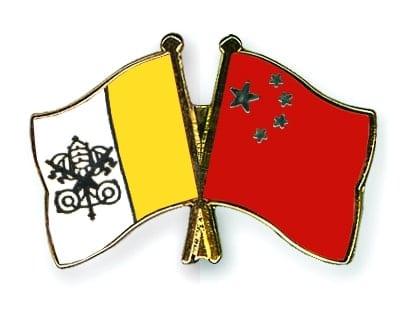 Flagi Chin i Watykanu