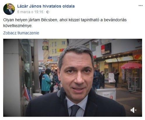 Janos Lazar - facebook - film z Wiednia