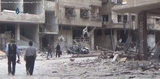 Wschodnia Guta - zniszczone budynki