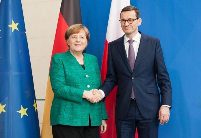 Angela Merkel i Mateusz Morawiecki