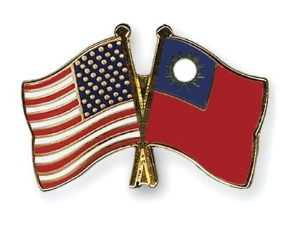 Flagi USA Tajwan - wpinka