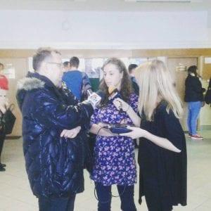 Eunika Chojecka z dziennikarzami