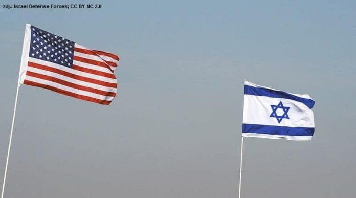 Flagi USA i Izraela