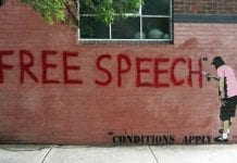 Free speech graffiti