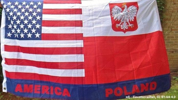 Flaga Polska USA