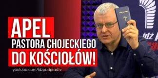 Apel pastora Chojeckiego do kościołów