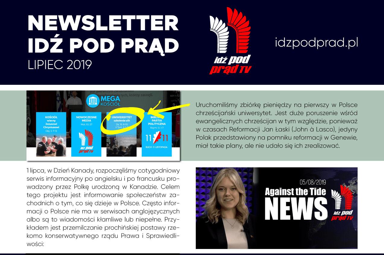 Newsletter Idź Pod Prąd Tv Lipiec 2019 Wwwidzpodpradpl